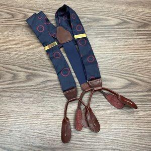 Perry Ellis Navy w/Red Polka Dot Suspenders Braces